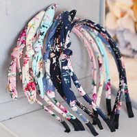 Verkauf 1PC Tuch Blume Drucken Kinder headwear Kinder Stirnband Mädchen bögen prinzessin Haarband haar zubehör