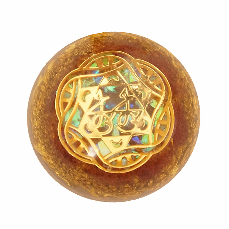 AURAREIKI Orgonite Pendant Necklace For Women Wang Taohua Beauty Charm Love Powder Crystal Stable Feelings Soothe The Soul Gift