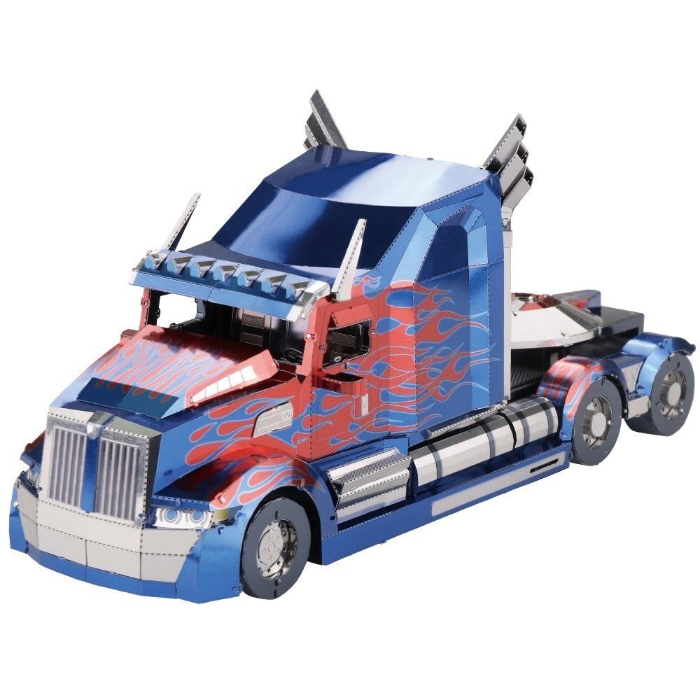Coloré Nano OP camion voiture amusant 3d métal bricolage Miniature modèle Kits Puzzle jouets enfants éducatif garçon épissage passe-temps construction