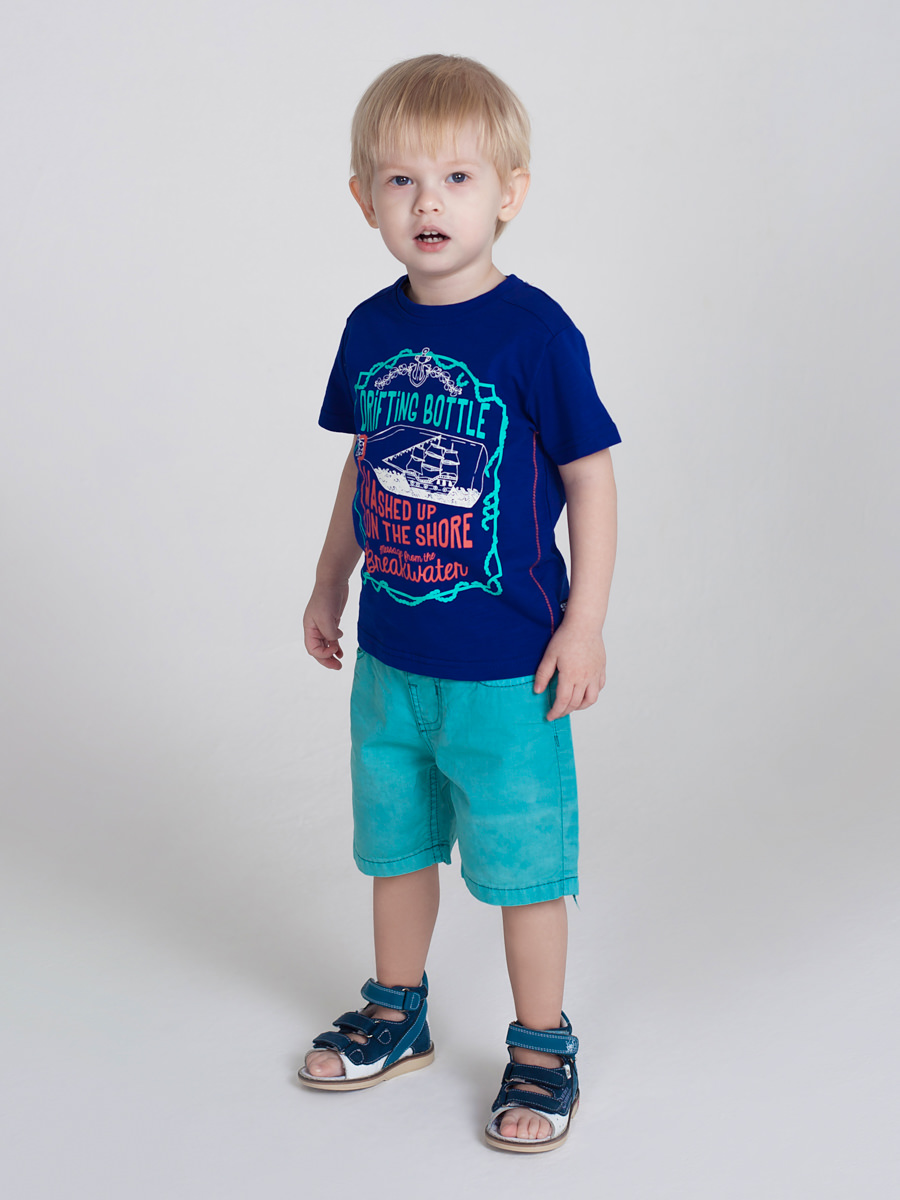[Available with 10.11] Shorts textile for boys letter print tee with shorts