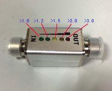 1 Mhz 30 Mhz 40 W VSWR led anzeige Stecker MINI SWR display Kurze welle standing wave tisch meter