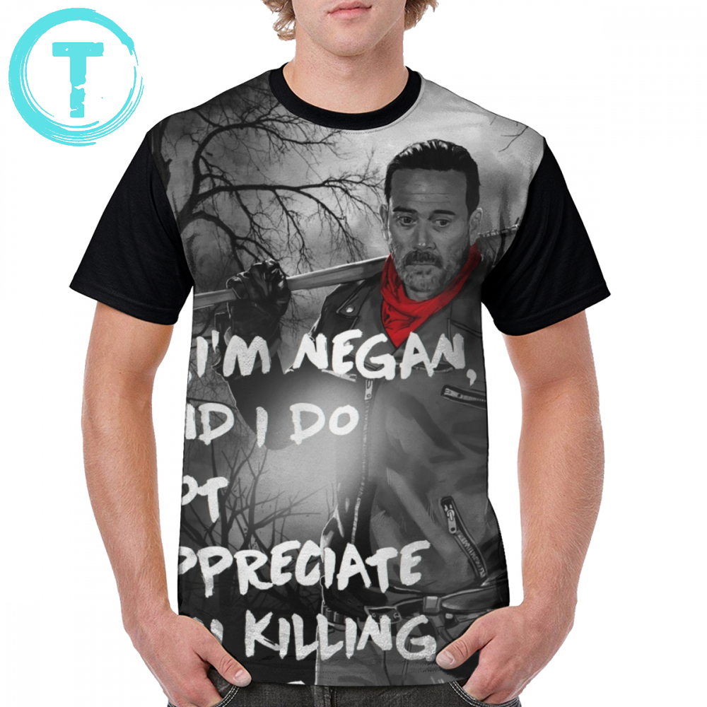The Walking Dead T Shirt Negan T-Shirt Printed 5x Graphic Tee Shirt Polyester Man Summer Cute Short Sleeves Tshirt