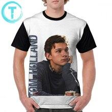 Tom Holland T Shirt T-Shirt Awesome 4xl Graphic Tee Polyester Short Sleeves Beach Printed Men Tshirt