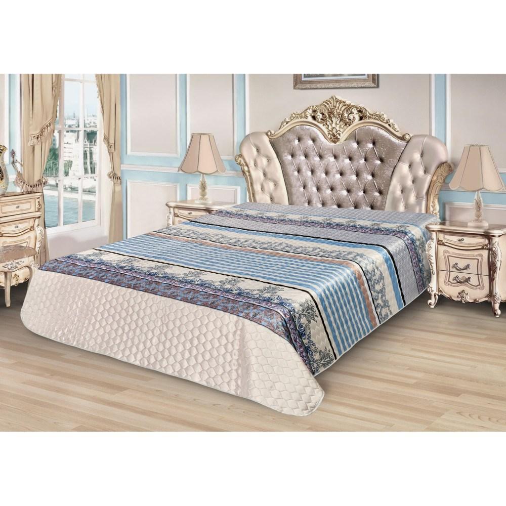 Bedspread Ethel Silk Tenderness, size 200*220 cm, faux Silk 100% N/E flounce sleeve faux pearl beading lace top