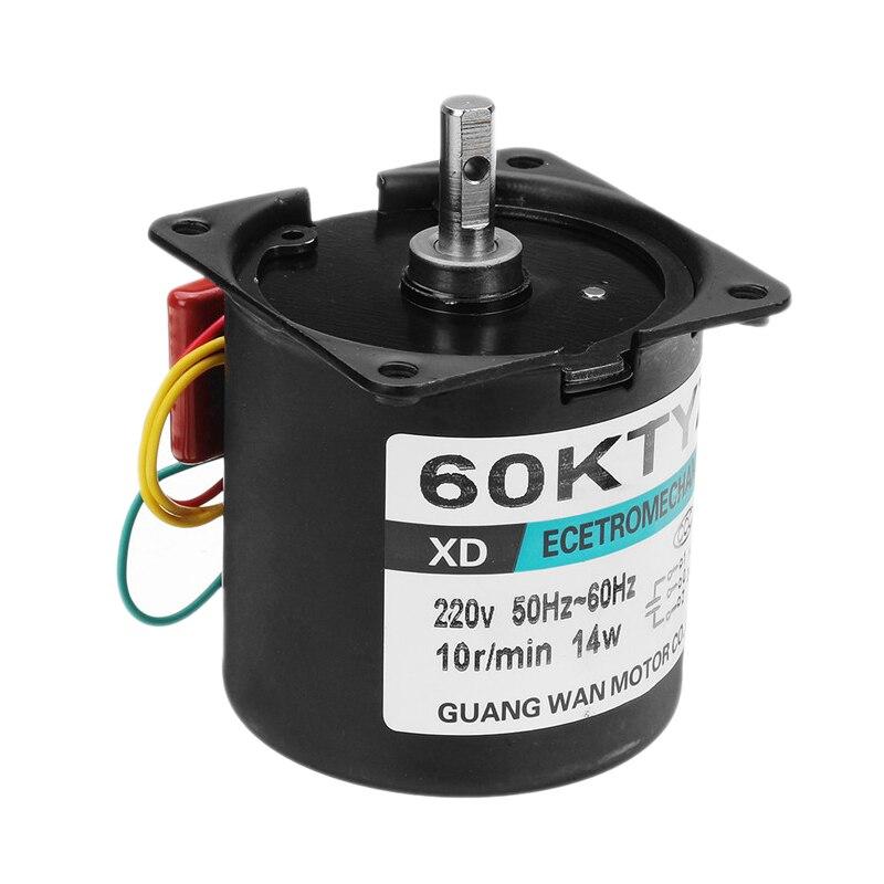 A60KTYZ AC Synchronous Gear Motor 220V 14W 15r//min  7mm Shaft Diameter