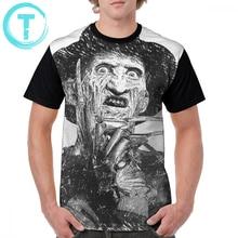 Nightmare On Elm Street T Shirt Freddy Krueger T-Shirt Funny Mens Graphic Tee Beach 100 Polyester Short Sleeves Tshirt