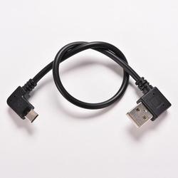 2 PCS USB 2.0 왼쪽 각도 90도 마이크로 좌 각 M 케이블 데이터 코드