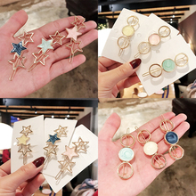 Sale 2019 Acetate Star Round Women Hair Clip Headwear Hairpin Barrette Headband Alloy Girls Hair Accessories ubuhle fashion women full pearl hair clip girls hair barrette hairpin hair elegant design sweet hair jewelry accessories 2019