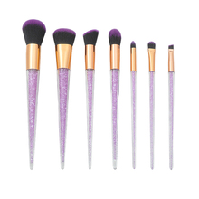 New 7Pcs Diamond Crystal Makeup Brushes Professional Set Foundation Blending Powder Eye Face Brush Tool Kit Cosmetic Br