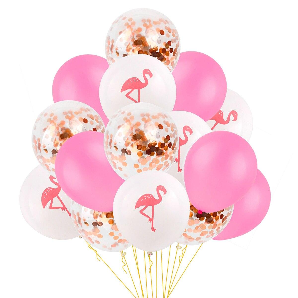 FRIGG 12inch Mixed Flamingo Balloon Round Animal Pattern Balloons Summer Latex Ballon Hawaiian Party Decor