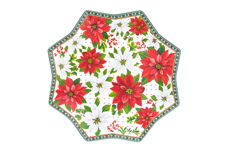 Available from 10.11 Dish serving Poinsettia Elan Gallery 420204 hot dish