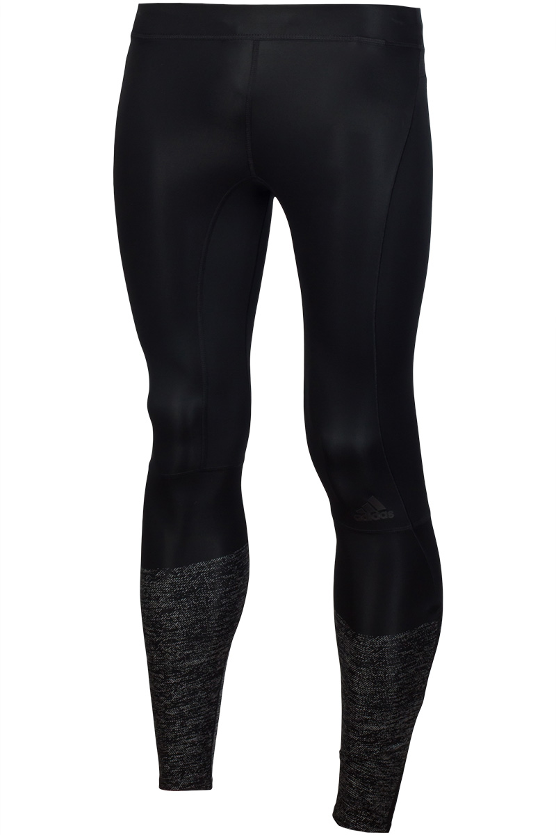 Male leggings Adidas S94403 sports and entertainment for men active net yarn stitching high waisted sports leggings in black