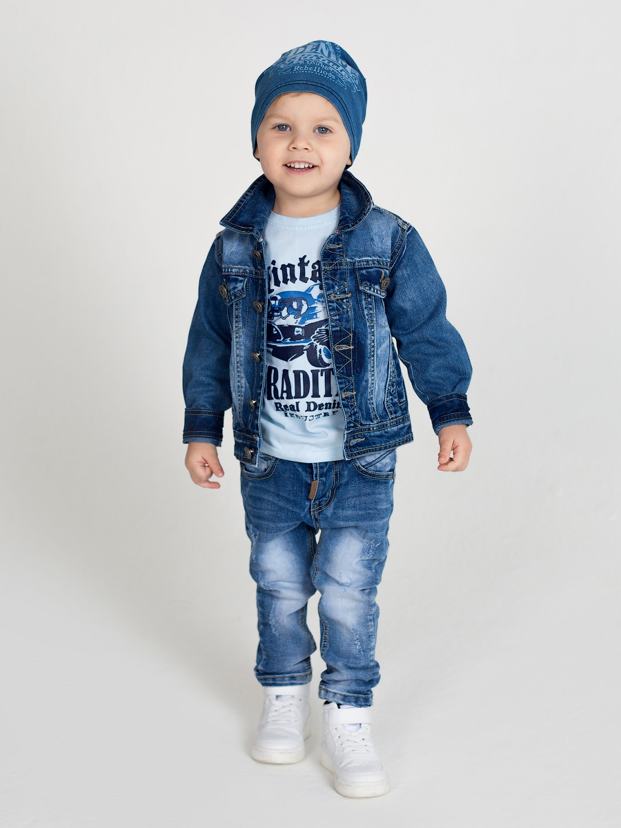 [Available with 10.11] Jacket jeans for boys fleece lined jacket with epaulet