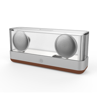 W king 2018 New Vidson I30 Portable Transparent Crystal Bluetooth Speaker Wireless 360 Degree Stereo Speaker With Tube Luminous