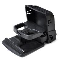 Black Rear Armrest Central Console Cup Holder For VW Volkswagen Jetta MK5 Golf GTI MK6 Armrest Box Rear Air Outlet Cup Holder