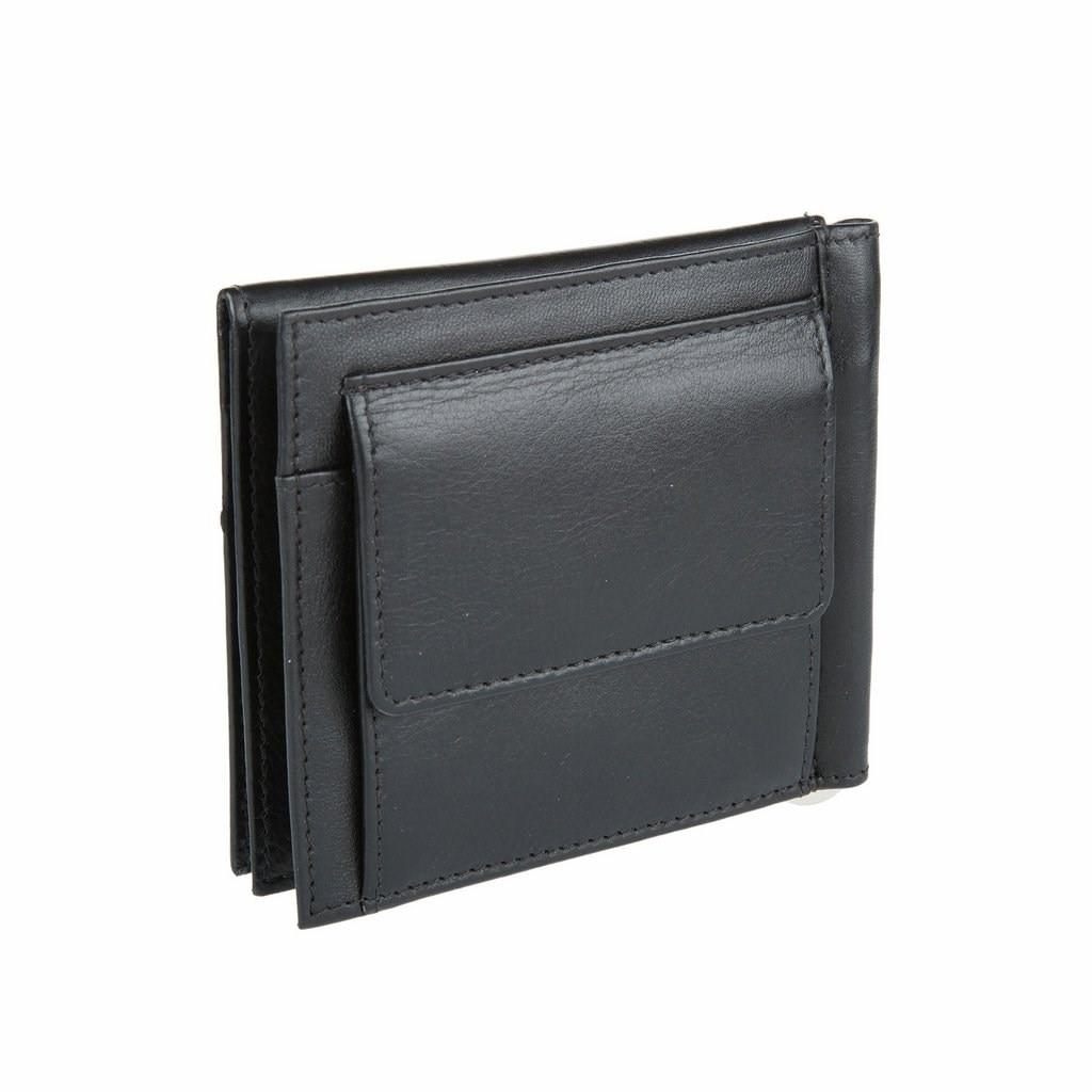 Money clip Mano 13415 black 2017 men leather brand luxury wallet vintage minimalist short male purses money clip credit card dollar price portomonee