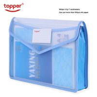 Transparent A4 file bag thickened waterproof stereo   large capacity Document Hold Bags folders  storage folder free shop