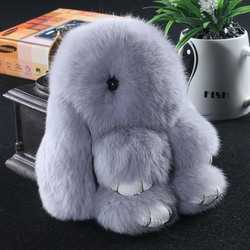Rabbit Fur 키 체인 Bunny Rabbit Fur 패션 Pom Pom 키 체인 Bunny Toy Rabbit 키 체인 14 센치메터 Tote 차 Charm 펜 던 트