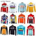 Зимняя флисовая велосипедная футболка с длинным рукавом, велосипедная одежда, теплая ветрозащитная одежда для велоспорта, ropa Ciclismo, несколь...