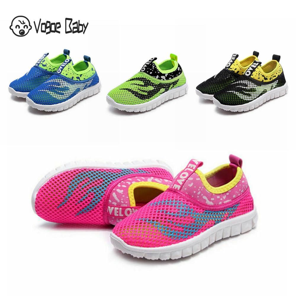 Autumn Spring Boys Girls Running Shoes Kids Sneakers For Mesh Breathable Children Sports Shoes Shock Absorption Run Sneakers|Sneakers| |  - title=