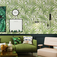 Palm Nordic Leaf Wallpaper Bedroom Living Room Tv Wall Non woven Wallpaper Southeast Asian Rainforest Wall Papers Home Decor