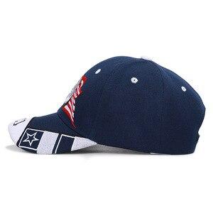 Image 4 - Męska farma zwierząt wywijane czapka typu trucker patriotyczny amerykański orzeł i flaga ameryki czapka z daszkiem USA 3D haft