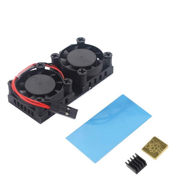 Raspberry Pi Dual Fan With Heat Sink Ultimate Double Cooling Fans Cooler For Raspberry Pi 3 Model B+ Plus Or 3B