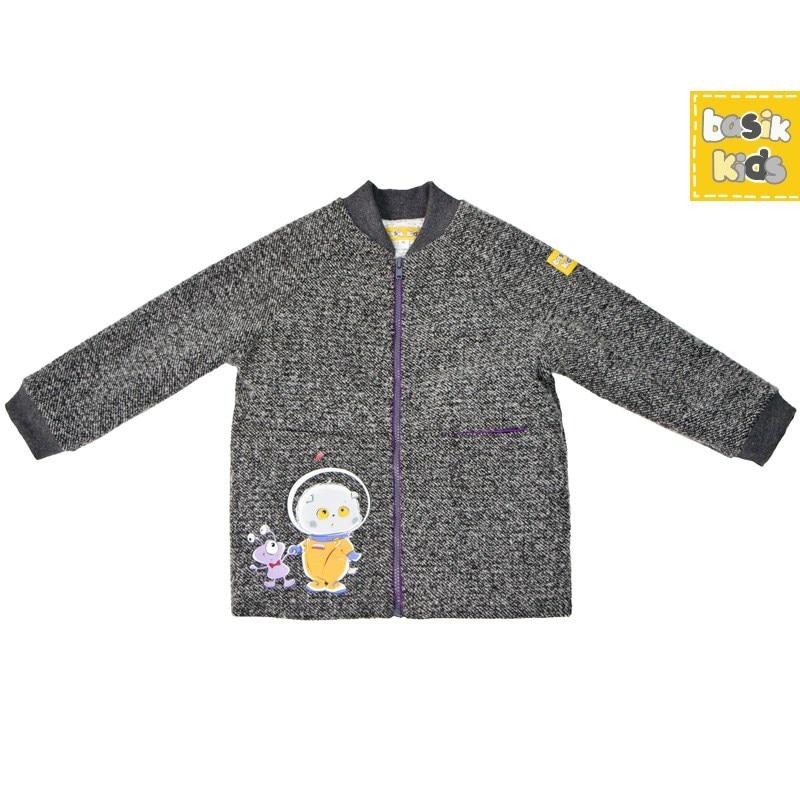 Basik Kids Coat boucle gray kids clothes children clothing цена и фото