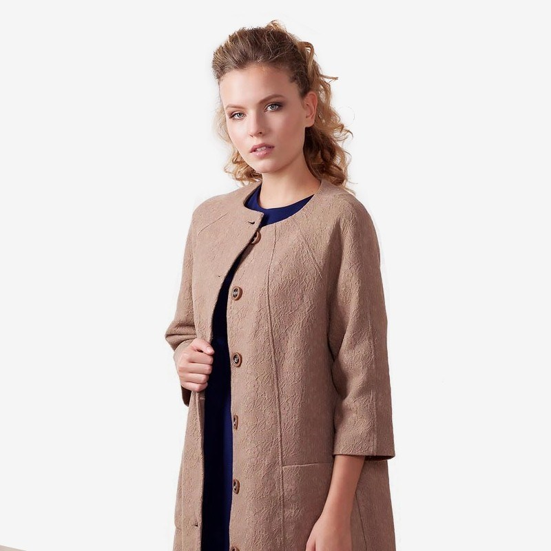 Cardigan 1700241-48 shawl collar long sleeve one button cardigan