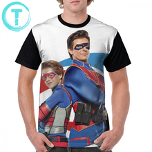Henry Danger T Shirt Captain Man And Kid Danger T-Shirt Big Man Graphic Tee Shirt Beach Funny Polyester Short Sleeve Print Tshirt floral and graphic print buttons henley t shirt