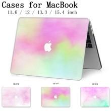 Caixa do portátil Para MacBook 13.3 15.4 Polegada Para MacBook Air Pro Retina Teclado 11 12 13 15 Com Protetor de Tela caso enseada Maçã Nova