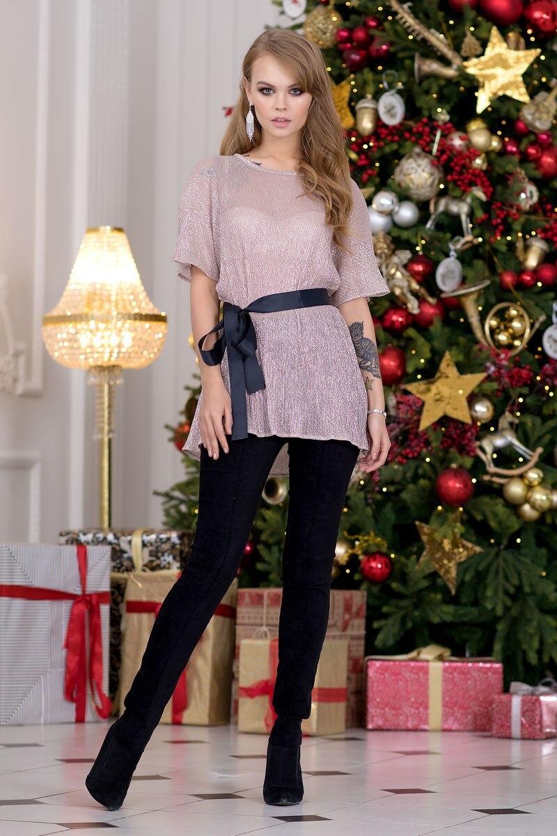 Blouse 1207541-62 hollow out solid color blouse