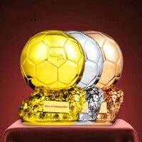 Custom Made Ballon D'OR Trophy Cup 1:1 Replica Men's Golden Soccer Ball World Best Football Player Soccer Fans Sport Souvenirs