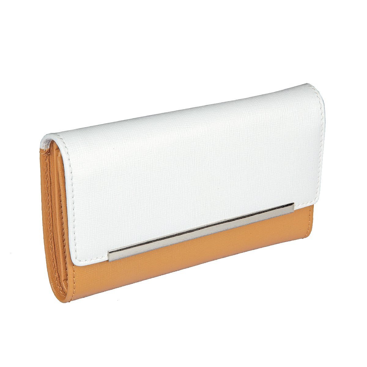 Coin Purse Gianni Conti 498733 Tan-white simline vintage genuine crazy horse cow leather men men s long hasp wallet wallets purse zipper coin pocket holder with chain