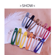 Fashion Candy Color Hair Clips For Women Geometric Hollow Out Simple Beautiful Acrylic 2019 New Hairpins stylish rectangle acrylic hollow out bracelet for women