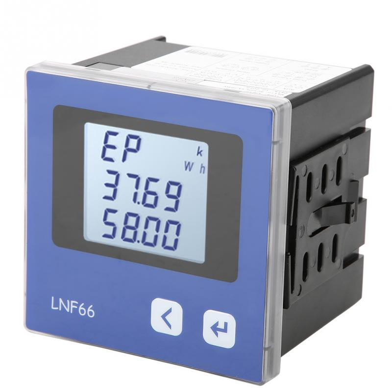 Digital 3-phase Voltage Ammeter LNF66 Digital LCD Display Three-phase Multi-Function Electric Meter with Harmonic Measurement цены