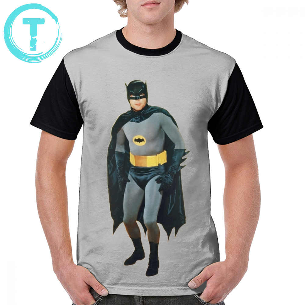 Batman T Shirt Adam West Legend T-Shirt 100 Polyester Short Sleeve Graphic Tee Shirt Men Fashion Plus size Awesome Graphic Tshirt
