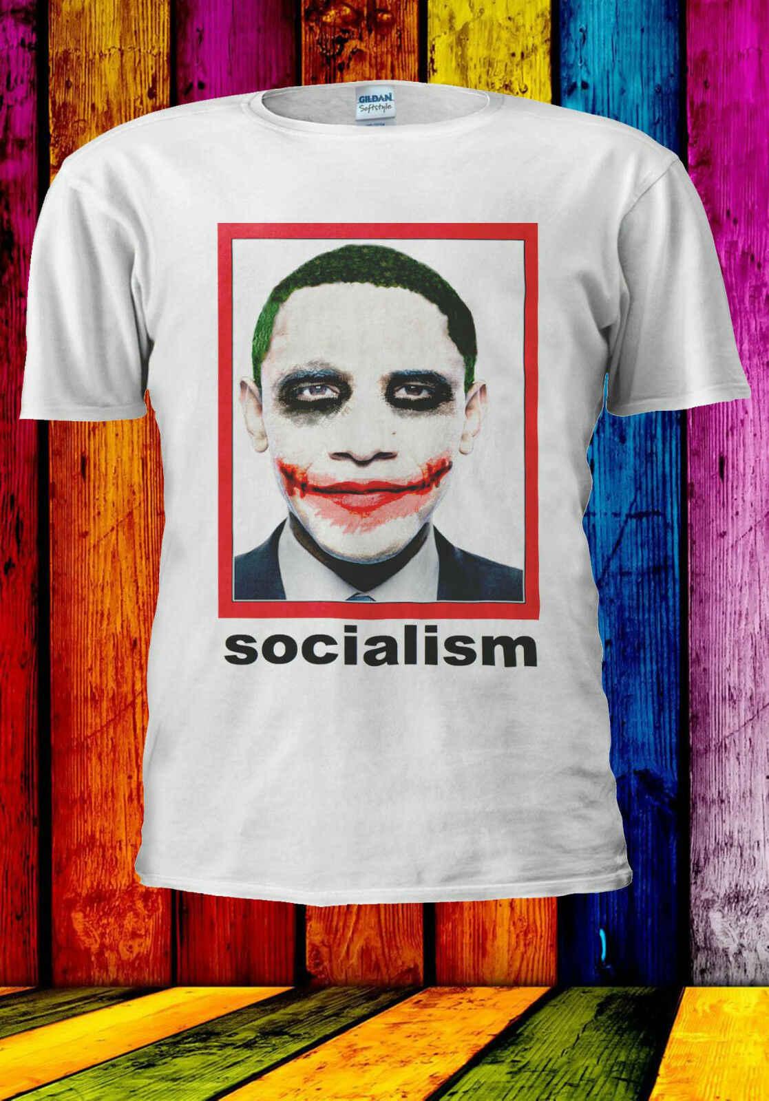 Обама как Джокер пародия социализм футболка жилет для мужчин женщин унисекс Лето 553 Мужская мода футболка, удобная футболка