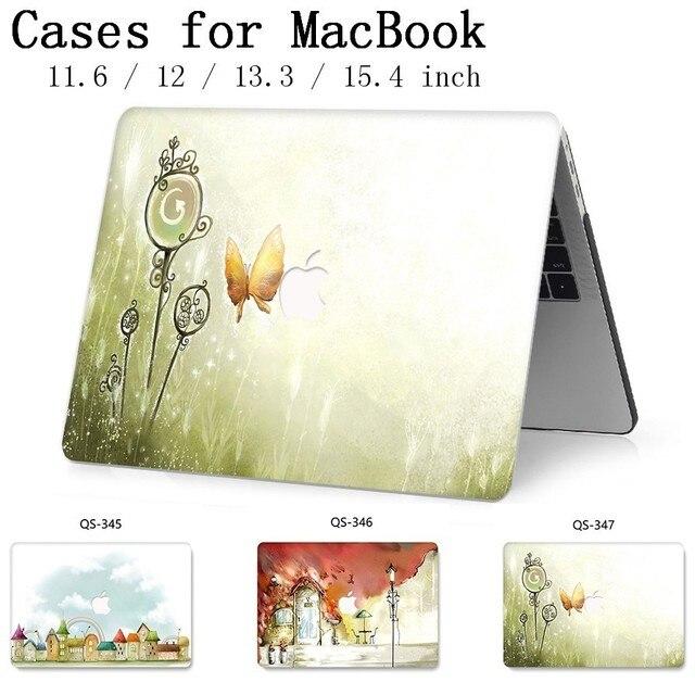 Nueva funda para ordenador portátil para Macbook 13,3 15,6 pulgadas caliente para Macbook Air Pro Retina 11 12 13 15,4 con Protector de pantalla teclado Cove regalo