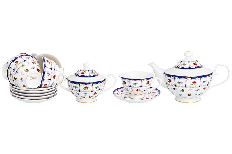 Available from 10.11Tea set Flower 14 items Elan Gallery 740305