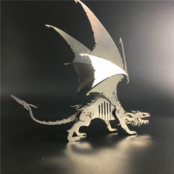 Frost Wyrm Dinosaurs 3D Steel Metal Joint Mobility Miniature Model Kits Puzzle Toys Boy Splicing Hobby Building