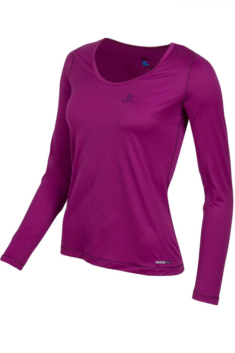 Фото - SALOMON Running t-shirt L37713600 men s short sleeved fitness basketball running stretch skin tight dry t shirt
