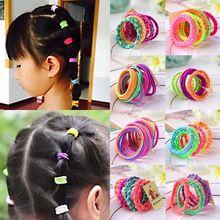 Горячие 10 шт милые детские волосы веревка ленты для волос Галстуки
