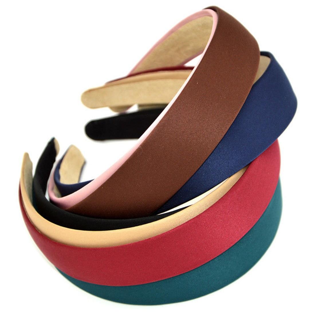 Hot 1PC Plastic Fashion Canvas Wide Headband Hair Band   Headwear   Bezel Hair Accessories For Woman Girl