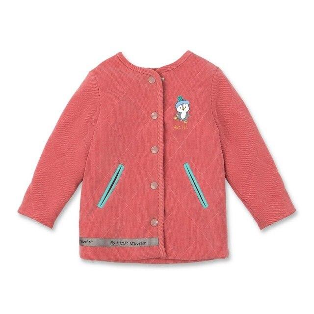 Basik Kids Пальто вельветовое пудра