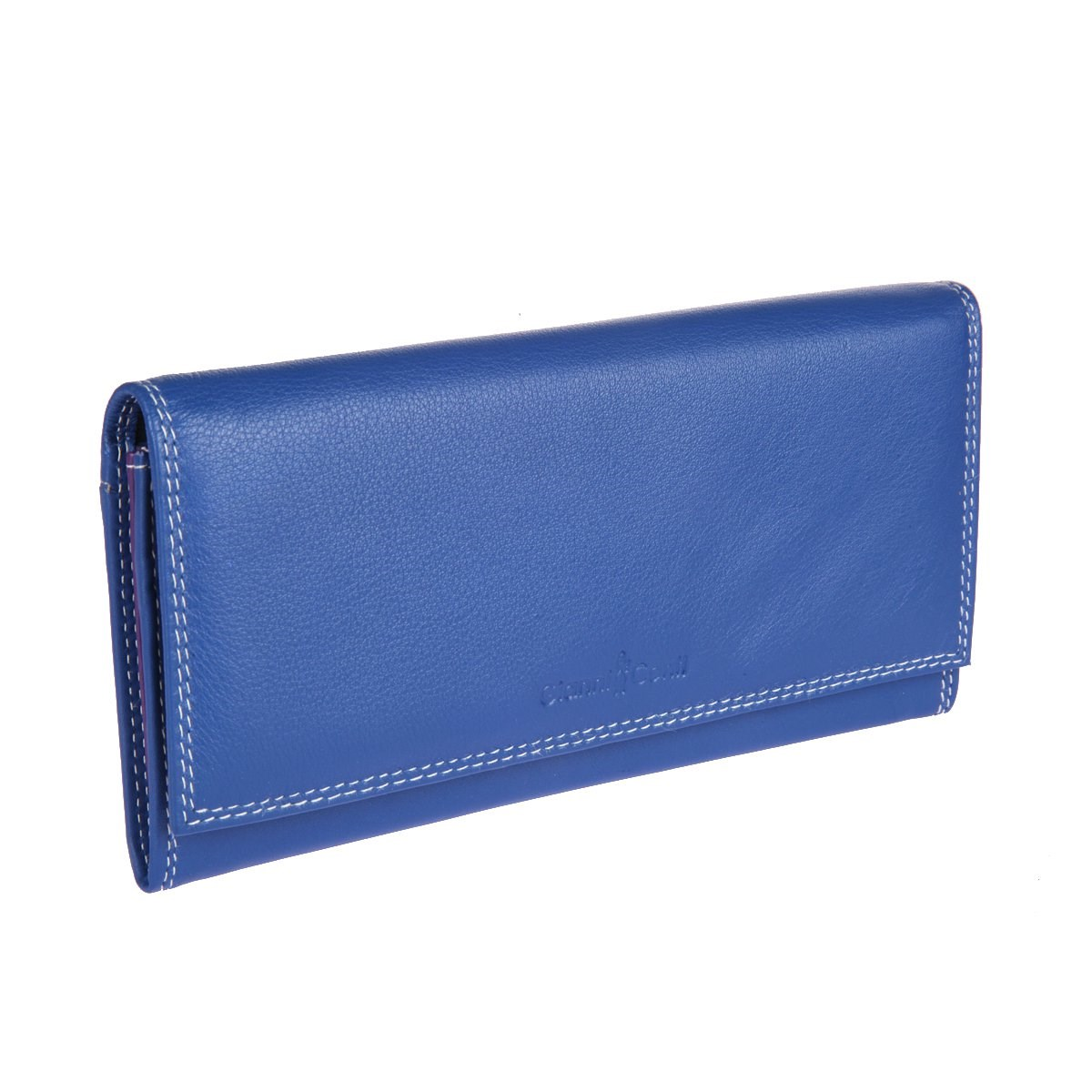 Coin Purse Gianni Conti 1807403 El. Blue multi simline vintage genuine crazy horse cow leather men men s long hasp wallet wallets purse zipper coin pocket holder with chain