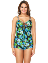 S-2XL Plus Size Tankini Swimsuits With Shorts Swimwear Women Two Pieces 2019 Knotted Swim Bathing Suit Weed Bikinis Beach Dress