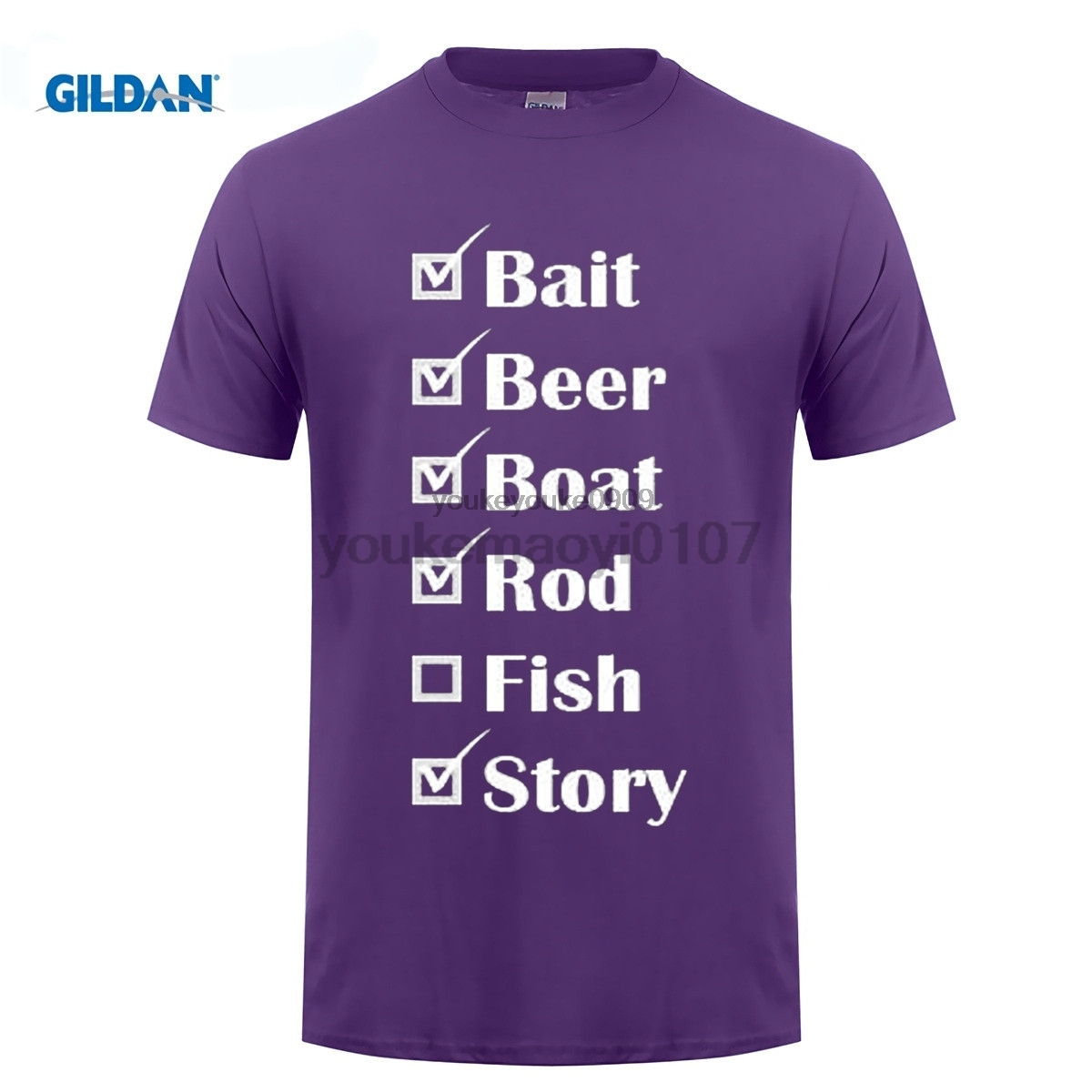 GILDAN designer t shirt Men 39 s O Neck Short Funny T Shirt T Shirt Lowest Price 100 Cotton Fishinger Checklist T Shirts in T Shirts from Men 39 s Clothing