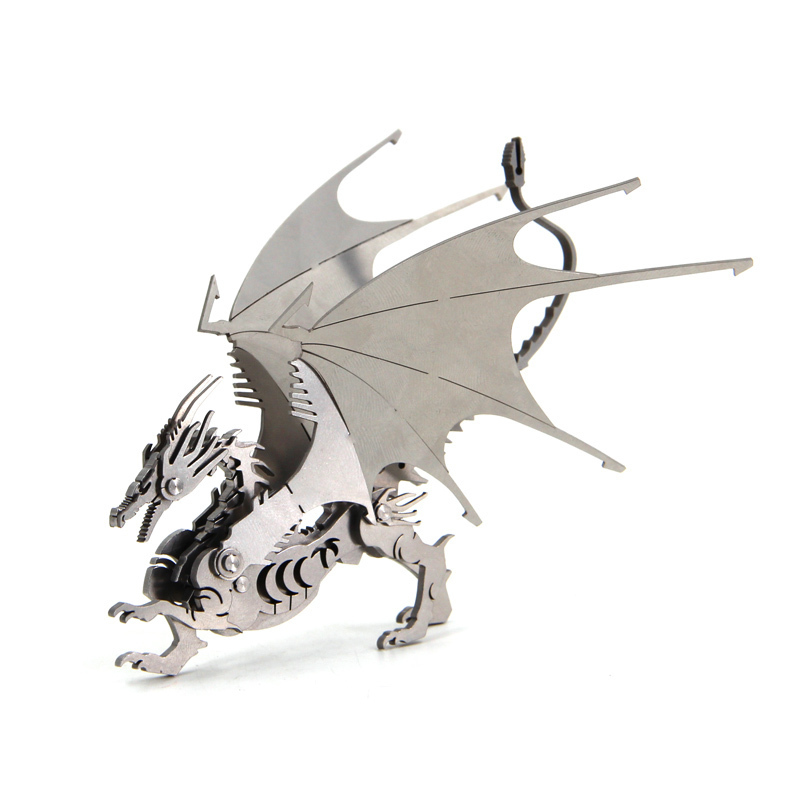 Fly Dragon 3D Steel Metal Joint Mobility Miniature Model Kits Puzzle Toys Children Boy Splicing Hobby Building