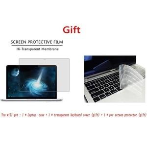 Image 5 - Dla MacBook Air Pro Retina 11 12 13 15.4 torba na laptopa etui na Macbooka 13.3 15.6 Cal z osłoną ekranu klawiatura Cove gorący prezent